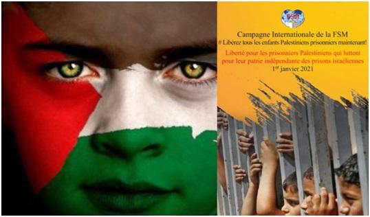 Weltgewerkschaftsverband (WSF) startet Kampagne zur Freilassung palästinensischer Kinder aus israelischen Gefängnissen